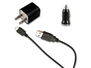 USB Data Cable AC Charger + Car Charger for Verizon HTC Droid Incredible 4G LTE