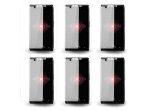 Lot 6 X Clear LCD Touch Screen Protector Guard Film For Motorola Droid RAZR XT912