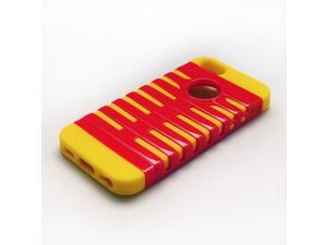 Yellow Red Impact Combo Hard Rubber Protective Case Cover for the New iPhone 5