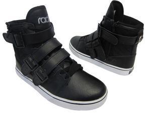Radii Mens Straight Jacket Black Leather Shoes