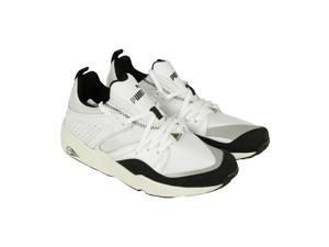 Puma Blaze of Glory Primary White Black Mens Lace Up Sneakers