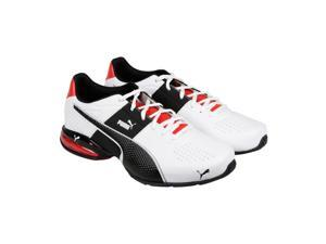 Puma Cell Surin 2 White Black Flame Scarlet Mens Athletic Running Shoes