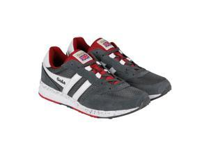 Gola Samurai Grey Red White Mens Lace Up Sneakers