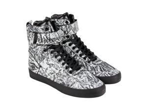 Radii Vertex Frosted Black Ostrich Mens High Top Sneakers