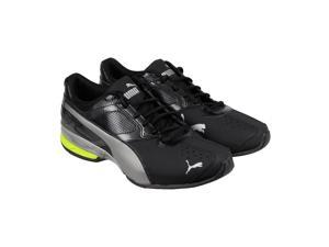 Puma Tazon 6 Black Aged Silver Sul Mens Athletic Running Shoes