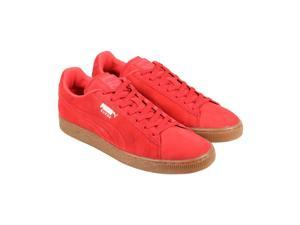 Puma Suede Emboss High Risk Red Gum Mens Lace Up Sneakers