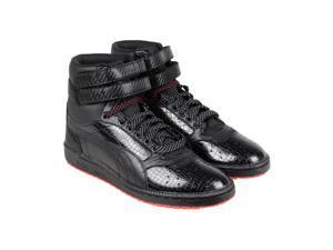 Puma Sky Ii Hi Carbon Black High Risk Red Mens High Top Sneakers