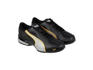 Puma Super Elevate Black Limestone Gray Mens Athletic Running Shoes