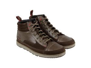 Cushe Burnside Dark Brown Mens High Top Sneakers