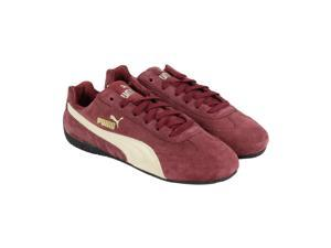 Puma Speed Cat Burgundy Gravel Mens Lace Up Sneakers