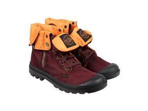 Palladium Baggy Zip MA-1 Maroon Orange Mens Casual Dress Boots