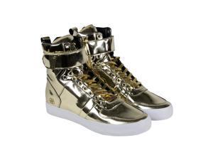Radii Vertex Liquid Gold Leather Mens High Top Sneakers