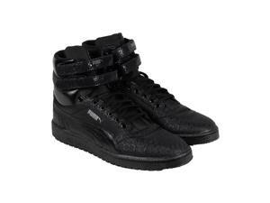 Puma Sky II Hi Mono Crackle Black Dark Shadow Mens High Top Sneakers