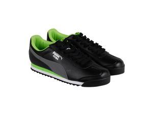 Puma Roma Basic Black Steel Gray Mens Lace Up Sneakers