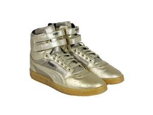 Puma Sky II Hi Metallic Metallic Gold Mens High Top Sneakers