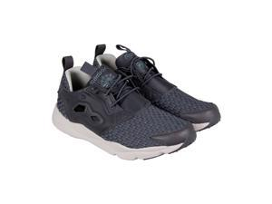 Reebok Furylite New Woven Ash Grey Shark Sand Stone Mens Lace Up Sneakers