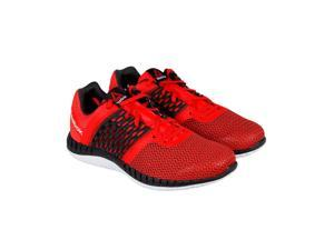 Reebok Reebok Zprint Run Motor Red Coal Grave White Mens Athletic Running Shoes