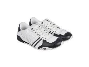 Diesel Harold Solar White Black Mens Lace Up Sneakers