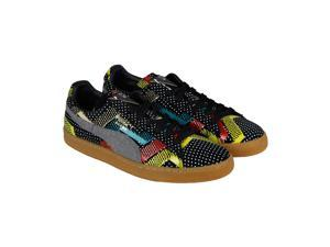 Puma Suede Bhm Statement Black High Risk Red Gum Mens Lace Up Sneakers