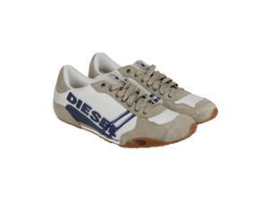 Diesel Solar Silver Mink Mens Lace Up Sneakers
