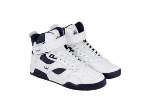 Supra Bleeker White Navy Mens High Top Sneakers