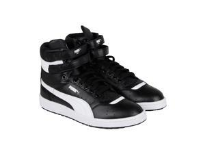 Puma Sky Ii Hi Fg Black White Mens High Top Sneakers