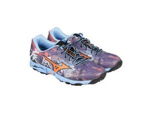Mizuno Hayate Purple Orange Teal Womens Athletic Running Shoes