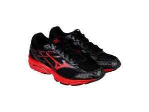 Mizuno Wave Unite 2 Black Red Mens Athletic Running Shoes