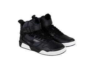 Supra Bleeker Black Charcoal White Mens High Top Sneakers
