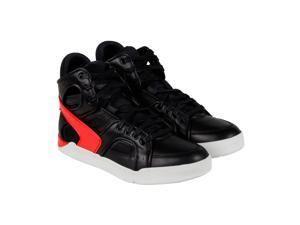 Diesel S Titann Black Fiery Red Mens High Top Sneakers