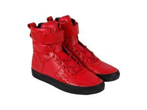 Radii Vertex Scarlet Crocadile Vegan Leather Mens High Top Sneakers