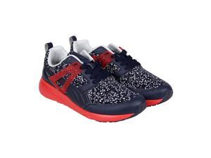 Puma Arial Splatter Peacoat High Risk Red White Mens Lace Up Sneakers