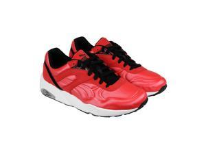 Puma R698 Matt & Shine High Risk Red White Black Mens Lace Up Sneakers