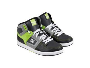 DC Factory Lite High Black White Softlime Mens High Top Sneakers