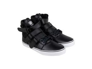 Radii Straight Jacket VLC Black Leather Mens High Top Sneakers