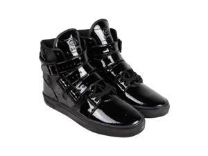 Radii FM1037 Black Black Patent Leather Mens High Top Sneakers