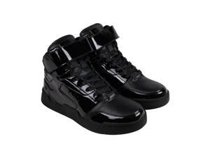 Radii Segment Black Black Patent Mens High Top Sneakers