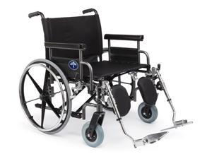 Medline MDS809850 Excel Shuttle Extra-Wide Wheelchairs Case Of 1 EA