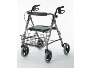 "Medline G07887B Guardian Deluxe Rollators with 8"" Wheels,Blue Case Of 1 EA"