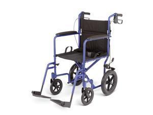 Medline MDS808210ABE Deluxe Aluminum Wheelchair, Blue Case Of 1 CS