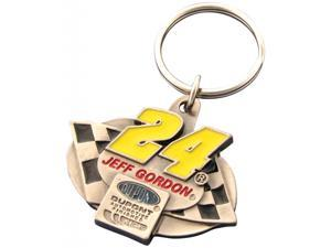 Jeff Gordon Triangle Pewter Keychain