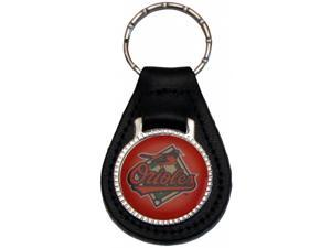 Baltimore Orioles Leather Keychain