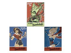 Bundle - 3 Itmes: DC Comics Bombshells Refrigerator Magnets
