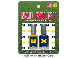 University of Michigan Nail Polish Team Colors and Nail Decals