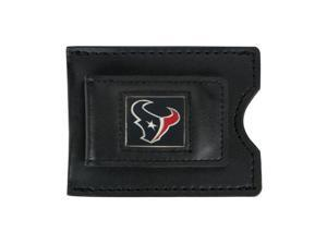 Houston Texans Leather Money Clip and Card Case