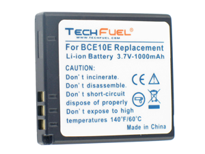 TechFuel Li-ion Rechargeable Battery for Panasonic SDR-S7EG-K Camcorder