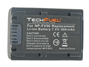 TechFuel Li-ion Rechargeable Battery for Sony DCR-HC62 Camcorder Battery