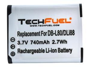 DB-L80 TechFuel 740mAh/2.7Wh Battery for Sanyo Camcorders and Cameras