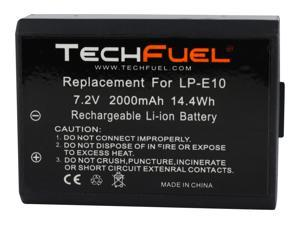 TechFuel LP-E10 Camera Battery for Canon 1100D, 1200D, Kiss X50 Cameras 2000mAh/14.4Wh