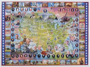 "Jigsaw Puzzle American History 1000 Pieces 24""X30""-United States Presidents"